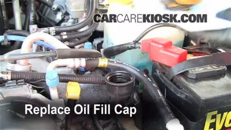 oil filter change subaru legacy