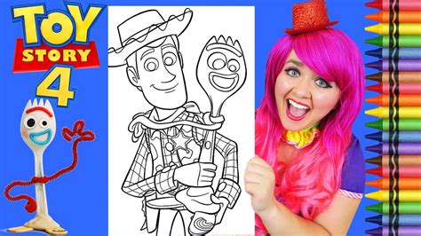 coloring toy story  forky woody giant coloring page