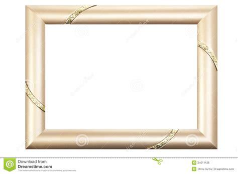 cadre de tableau d or d isolement sur le blanc image libre de droits image 24011126