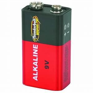 4 Pack 9 Volt Alkaline Batteries
