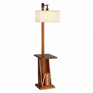 pacific coast lighting astor place floor lamp with tray With shelf floor lamp bed bath and beyond
