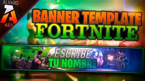 Descargar Youtube Banner Template by Banner Editable Template De Fortnite Descarga Por Mega
