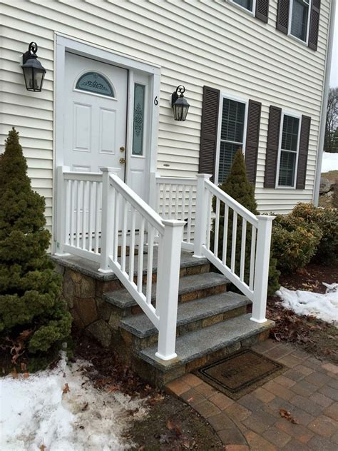 white vinyl railing white vinyl railing ashland massachusetts miller fence 1067
