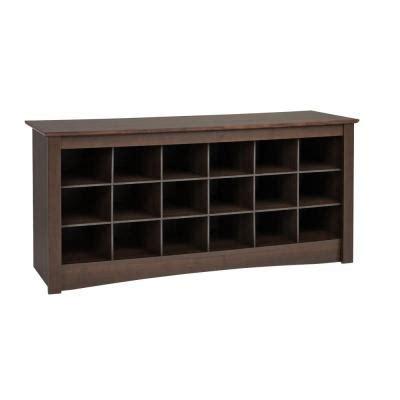 prepac sonoma shoe storage cubbie bench ess 4824 the
