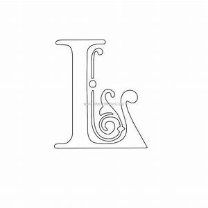 Printablefloralletters floral victorian wall letter for Letter stencils for walls free