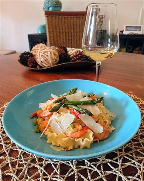recette de p 226 tes aux crevettes et aux asperges