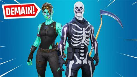 le retour des skins skull trooper halloween sur fortnite