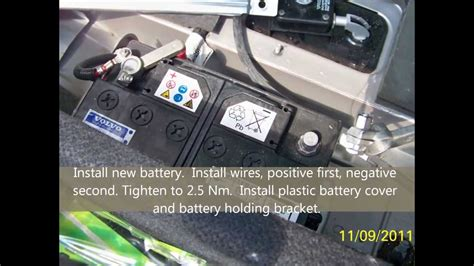 volvo xc  battery replacement youtube