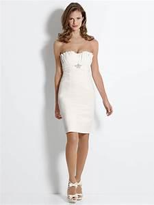 Robe De Mariee Courte : robe de mari e simple et chic courte ~ Preciouscoupons.com Idées de Décoration