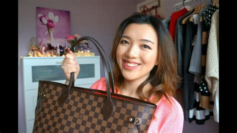 louis vuitton neverfull mm review whats   bag youtube