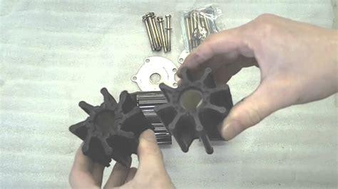 replacing  mercruiser marine engine sea water pump