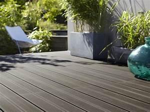 tout savoir sur les terrasses en bois composite leroy merlin With pose d une terrasse en bois composite