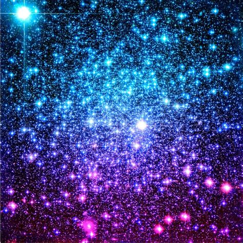 Glitter Galaxy Stars Turquoise Blue Purple Hot Pink
