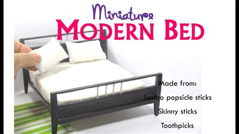 diy modern contemporary bed dollhouse miniature furniture
