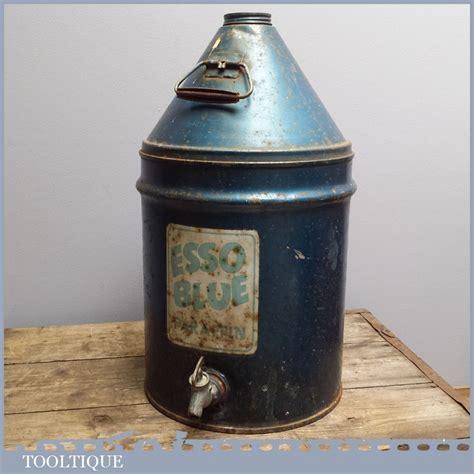 vintage  esso valor blue paraffin  garage car oil petrol advert