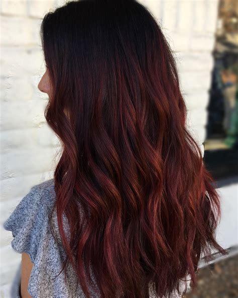 33 Stunning And Mystique Dark Red Hairstyles