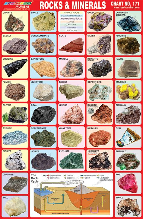 Spectrum Educational Charts Chart 171  Rock & Minerals