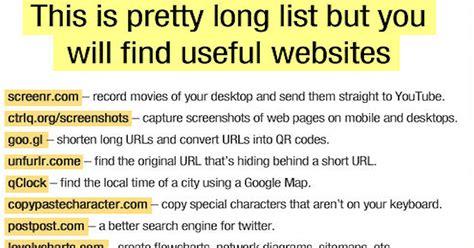 long list   websites pictures   images