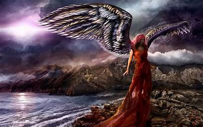 Angel Guardian Fantasy Backgrounds Wallpapers Windows