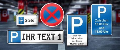 parkschilder und parkverbotsschilder einfach