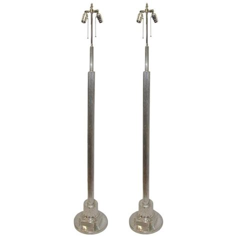 multi light floor l silver pair of neoclassic silver plated floor ls for sale at