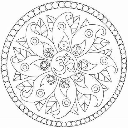 Mandala Coloring Peace Symbols Mandalas Om Yin