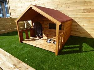 Luxury dog houses for sale funky cribs for Large dog house with porch