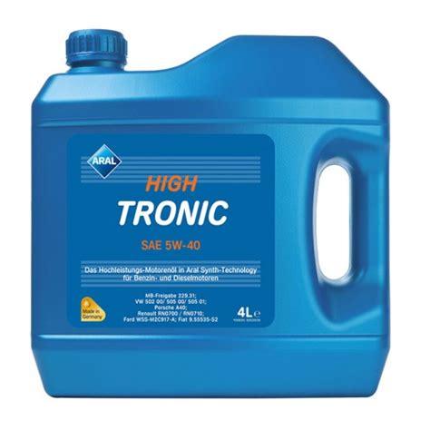 aral hightronic 5w 40 моторные масла aral aral hightronic 5w 40 купить киев подбор цены 5w40 kiev ua