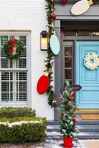 Outdoor, Christmas, Door, Decorations, Diy, Wood, Lights, Christmas, Garland