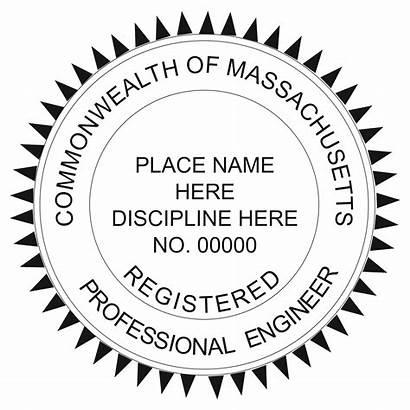 Stamp Engineer Professional Registered Massachusetts Land Surveyor