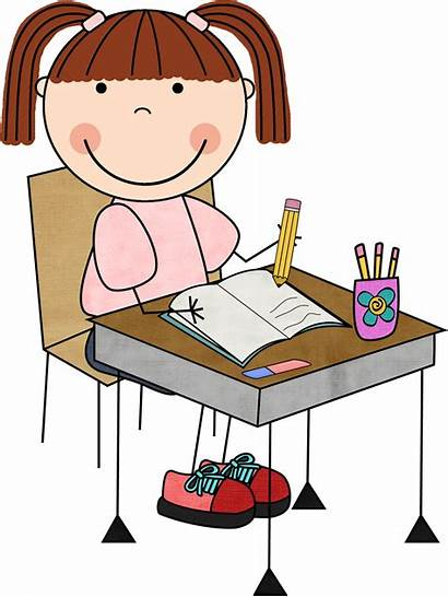 Student Working Clipart Clip Writing Cliparts Library