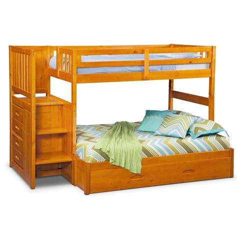 bunk bed with trundle desk and storage ranger twin over full bunk bed with storage stairs