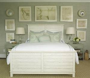 gray green grasscloth cottage bedroom phoebe howard With coastal home furniture gallery monterey ca