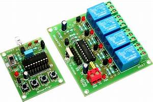 4 Channel Infrared Remote Relays Electronic Circuit
