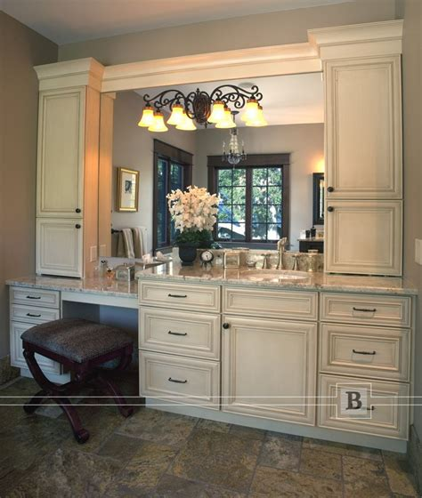 master bath   area  painted cabinets