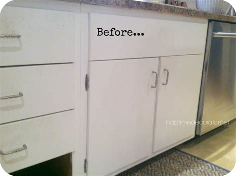 how to add molding to kitchen cabinets from drab to fab adding trim to cabinets 9283