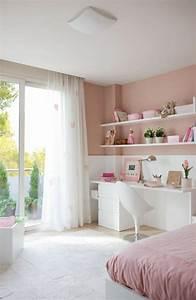 Deco Rose Pale : conforama chambre fille en rose pale et blanc idee deco chambre fille chambre enfant ~ Teatrodelosmanantiales.com Idées de Décoration