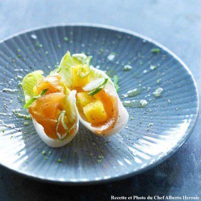 comment cuisiner des endives j18 tapas de kaki persimon endives et saumon fumé ou