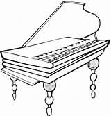 Coloring Piano Printable sketch template