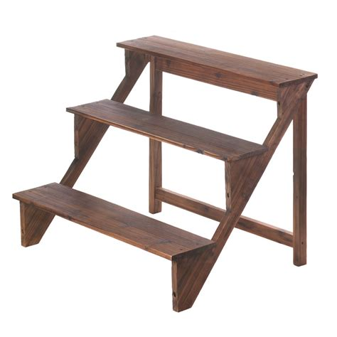 wooden steps plant stand wholesale  koehler home decor