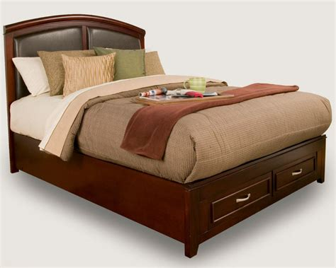 Leather Headboards For King Beds by Atherton East King Panel Bed With Faux Leather Headboard