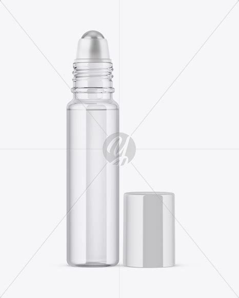 Simple edit with smart layers. 10ml Clear Glass Roller Bottle Mockup in Bottle Mockups on ...