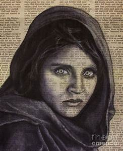 Art In The News 64-afghan Girl Drawing by Michael Cross