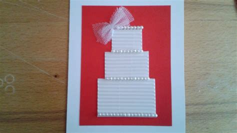 how to make a beautiful wedding greeting card diy crafts
