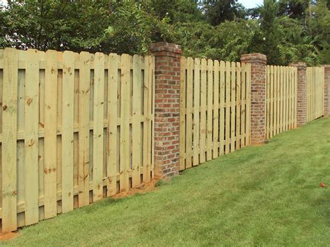 brick and wood fence pictures wood fence anniston al the fence place