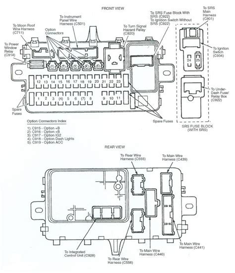 1995 Civic Ex Fuse Box by 1995 Honda Accord Fuse Box Diagram Pdf