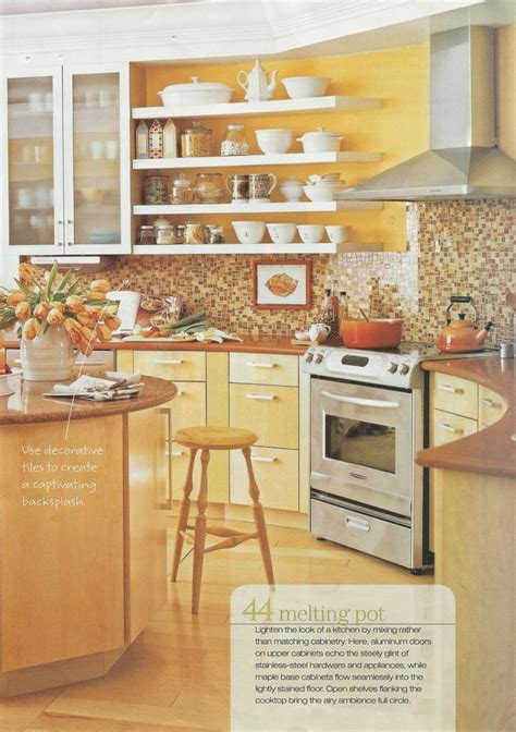 backsplash for yellow kitchen yellow kitchens yellow walls and brown tile bathrooms on 4261