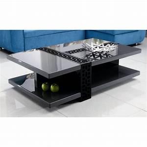 Table Basse Noire Design : table basse design laqu noir gris anthracite kate achat vente table basse table basse ~ Carolinahurricanesstore.com Idées de Décoration