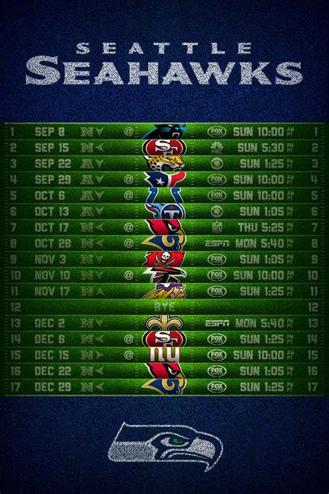 seattle seahawks  football schedule iphone