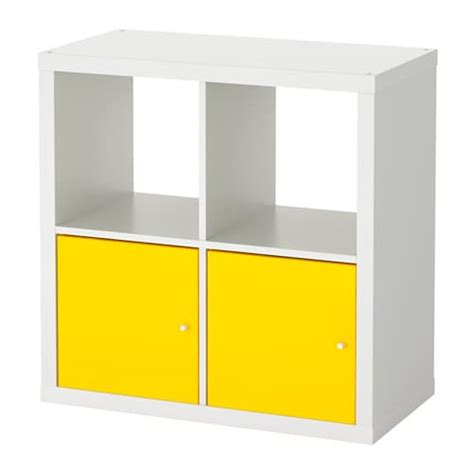 Scaffale Con Ante by Kallax Scaffale Con Ante Bianco Giallo Ikea